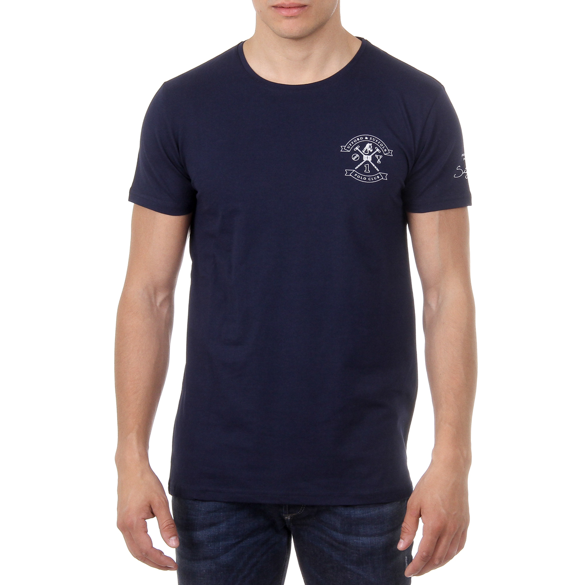 Primary image for Ufford & Suffolk Polo Club Mens T-Shirt Short Sleeves Round Neck US028 NAVY BLUE