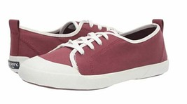 Sperry Size 7.5 M BREEZE Oxblood Canvas Lace Up Sneakers New Women's Shoes - $78.21