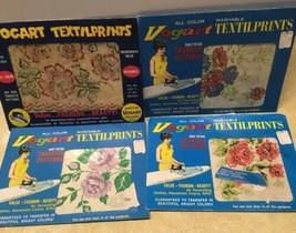 Vogart Textilprints Hot Iron Transfer Patterns Floral Assorted Flowers V... - $16.65