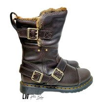Dr. Martens Kristy Faux Fur Lined Boots US Women size 9 Bitter Chocolate - $173.25