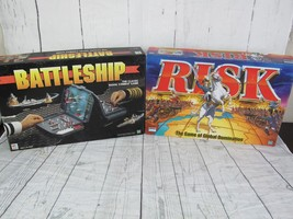 Hasbro Risk Battleship Board Games 1998 Complete Parker Brothers Milton ... - $28.04
