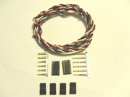 22awg Twisted Servo wire 1M W/ JR connectors Quadcopter Plane Helicopter - $5.12