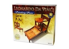 Leonardo Da Vinci Printing Press model kit hobby wood learning skill his... - $19.99