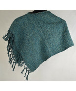 Poncho Womens Wool Handmade Sweaters Chile Green One Size - $49.50