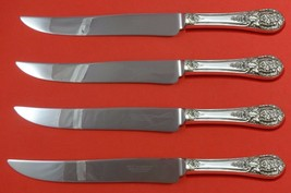 Crown Princess by International Sterling Steak Knife Set Texas Sized Custom - $247.10