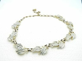 VTG EMMONS EMJ Signed Silver & Gold Tone Leaf Necklace - $29.70