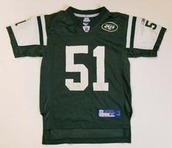 Reebok NFL New York Jets #51 Vilma Boy's Short Sleeve Jersey Size Medium... - $13.99