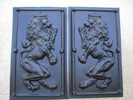 "Giant 19x34x2"" Mold Makes Celtic Scottish Rampant Lion (Left Facing) Wall Plaque image 3"