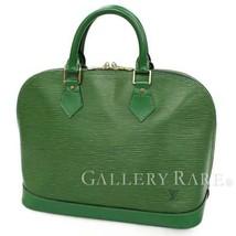 44ba4437af6c9 LOUIS VUITTON Alma Epi Borneo Green Handbag M52144 France Authentic 4945772  - £392.56 GBP