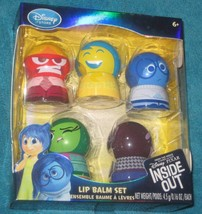 Disney Store Pixar Inside Out Movie Exclusive Lip Balm Set New Joy Anger... - $26.39