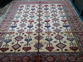 "Oriental Rug Fine super Kazak Wool  Hand Knotted Tribal Design Rug 8'2"" X 9'8"" - $2,474.01"
