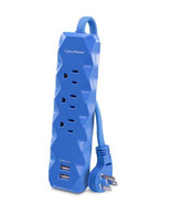 CyberPower 3 ft. 3-Outlet 2-USB Surge Protector, Blue - $18.95