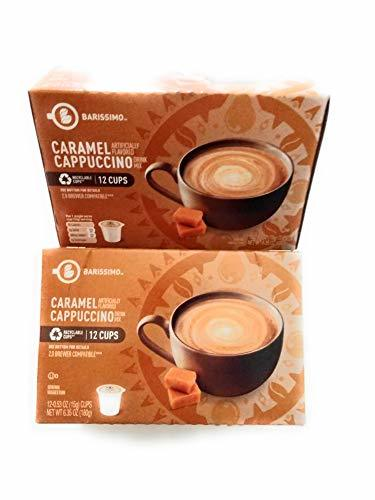 Primary image for Barissimo Caramel Cappuccino Coffee Drink Mix K-Cup Compatible 2 Boxes 24 Pods