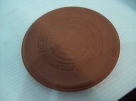 "Longaberger Pottery 6"" Round Button Basket Warming Red Brick - $9.85"