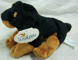 "Wishpets RAFE THE ROTTWEILER DOG 8"" Plush STUFFED ANIMAL Toy NEW - $15.35"