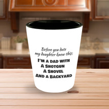Date My Daughter Custom Shot Glass | Dad Gifts | Funny Fathers Day | Fat... - €8,61 EUR