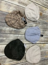 Lot Of 5 Unisex Newsboy Hats Small Medium New With Tags Various Brands - $23.17