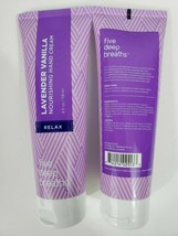 2 Five Deep Breaths Lavender Vanilla Nourishing Hand Cream Relax 4 fl oz... - $11.88