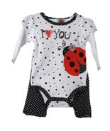 Posh Baby Grand White Black Polka Dot Lady Bug Infant Creeper w/Ruffled Pants - €12,63 EUR