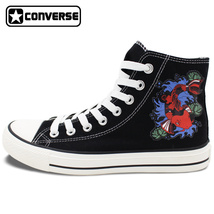 Design Fish Converse Canvas Shoes Fancy Carp Koi Sneakers Good Luck Symbol - $119.00