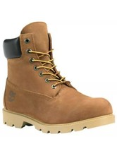 Timberland Men's Boots 6in. Classic Waterproof Rust Nubuck 10.5M Style T... - $147.51