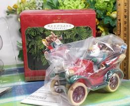 Hallmark Jazzy Jalopy ornament 1999 Santa Car with reindeer NIB - $21.75