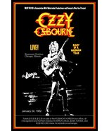 "Ozzy Osbourne / Randy Rhoads ""20 x 30"" DOAMM Tour Rosemont Horizon Custo... - $45.00"