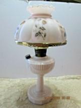 Aladdin Lincoln Drape Oil Kero Lamp Pink Alacite Matching Pink Shade (19th) - €136,57 EUR