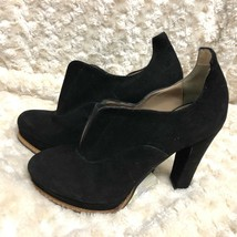 BCBG MAXAZRIA SHOES  Peep SCARPA Suede Black Heel Ankle Bootie Size: 7US - $37.39
