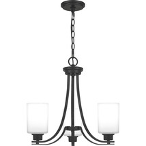 Pruitt 3-Light Chandelier in Matte Black - $259.99