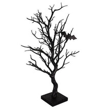 Darice Halloween Tree Decor with Bats: Black Glitter, 9 x 21 inches w - $28.99