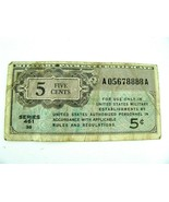Series 461 MPC 5¢ REPLACEMENT U.S. Military Payment Certificate - $108.85