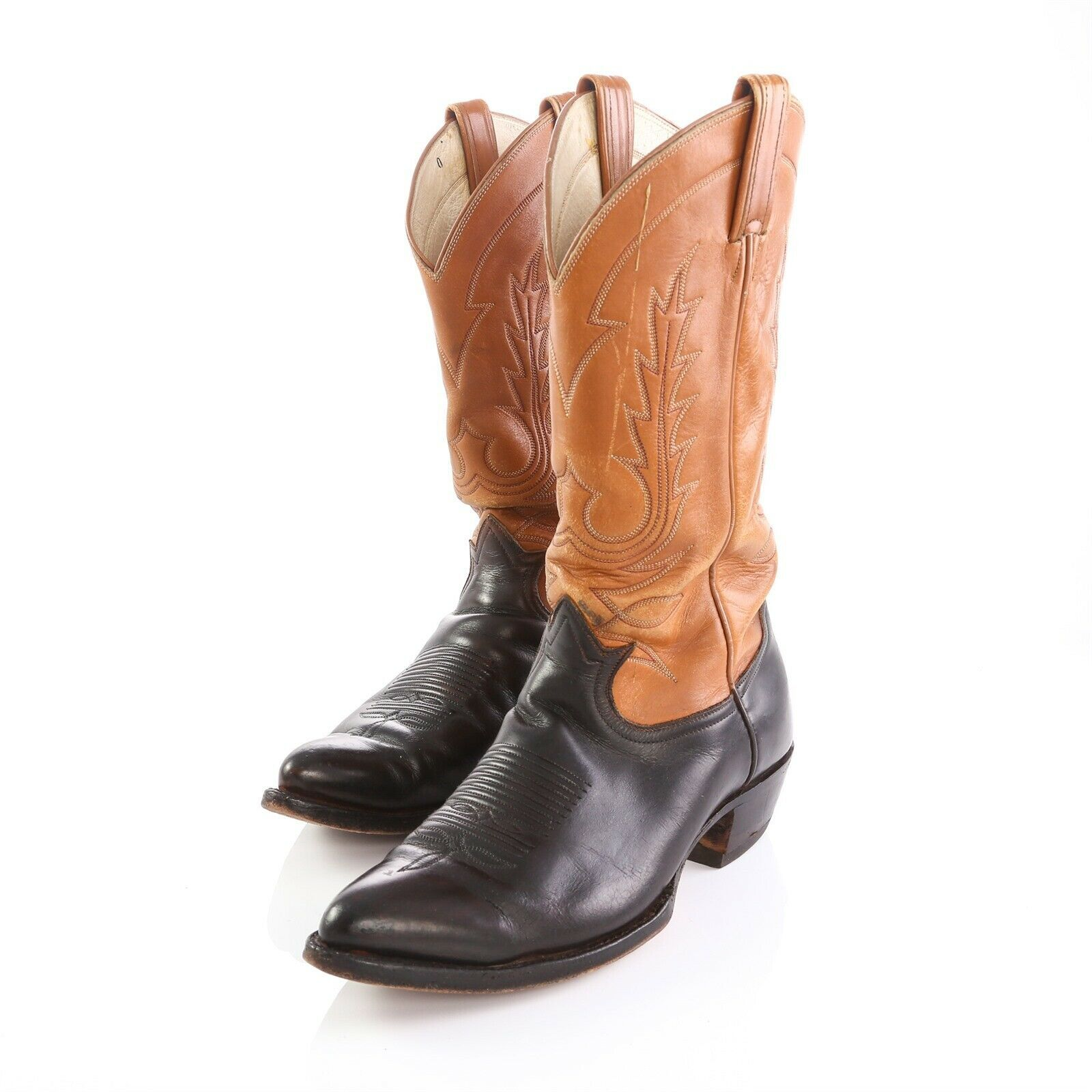 74a68363df3 Tony Lama Brown Black Leather Cowboy Western and 50 similar items