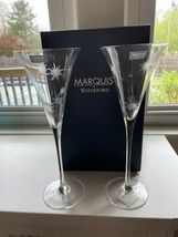 Set of 2 Waterford Crystal Marquis New Year Flutes New - $44.55