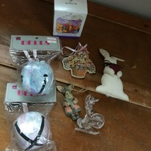 Estate Lot of Hallmark Tigger Pastel Jingle Bells Stuffed White Easter Bunny - $13.99