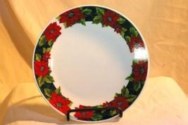 "Gibson Charming Poinsettia 7 1/4"" Salad Plate - $2.76"