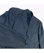 Ermenegildo Zegna Blue Gray Blazer Sport Coat 3 Button 44 R Paris 4 pocket - $74.99