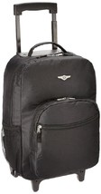Rockland Rolling Backpack Black School Bookbag Wheeled Travel Carry Bag ... - $29.48