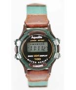 Aqualite Orologio Donna Verde Marrone Chrono Data Luce Cronometro Svegli... - $14.96