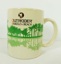 Outrigger Hawaii Waikoloa Beach Mug Palm Trees Green Gold Palms HI - $5.93