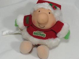 Vintage ZIGGY Doll Plush Toy Jolly Hollydays Christmas Santa Collectible - $9.49