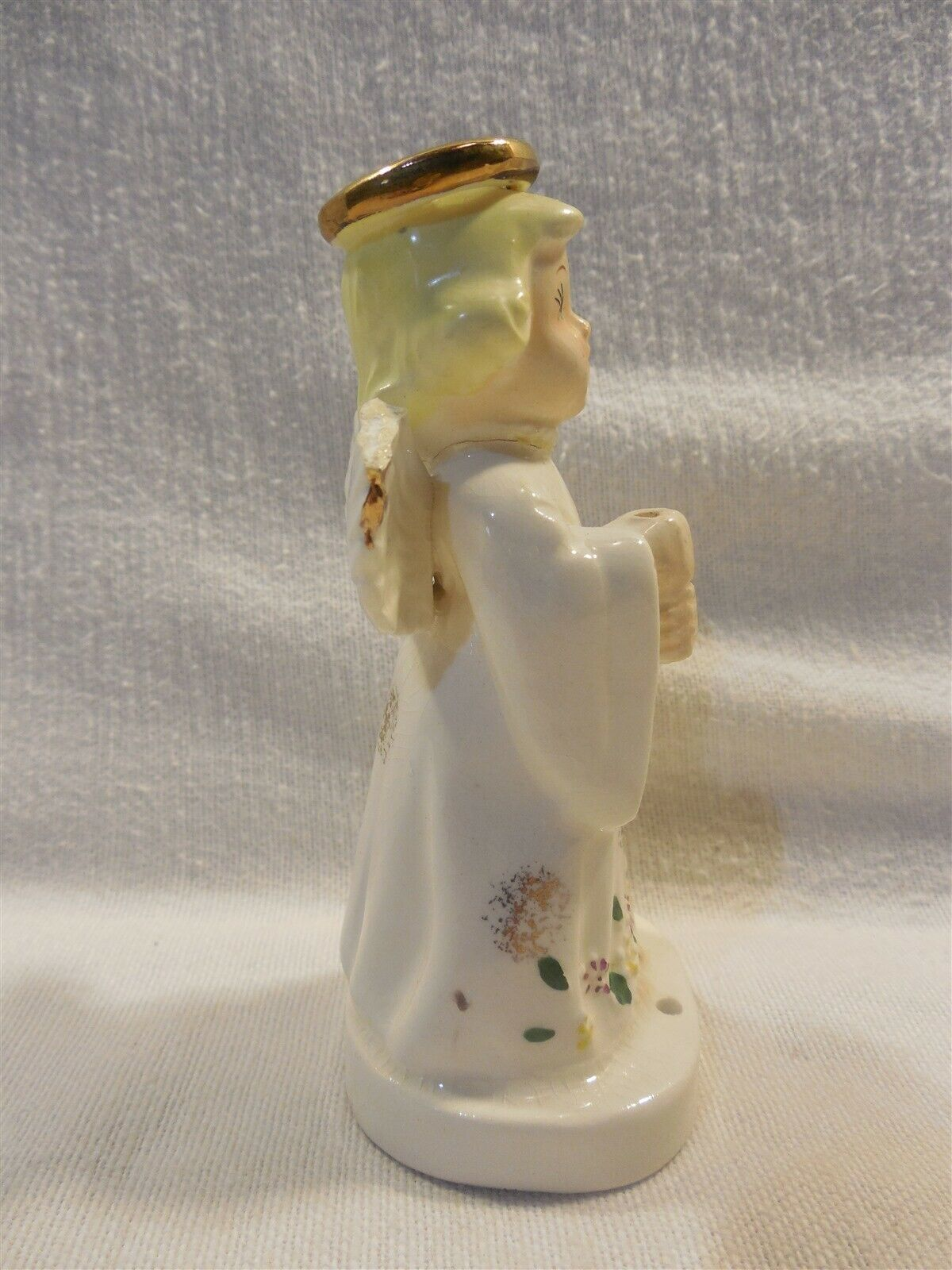 Lipper & Mann Japan Ceramic November Birthday Angel Figurine w/Umbrella As Is