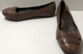 Born Madeleine Career Flats - Women's Size 7.5- Brown SLIP On FREE SHIPPING - $27.12
