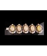 Vintage Bookchain Bracelet - Vintage Medieval rhinestone bracelet - pink... - $165.00
