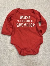 One-Piece Body Suit New Born 6 - 8.5 Lbs Anthem Red Most Eligible Bachelor - $9.68