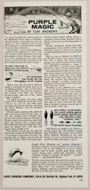 1967 Print Ad Johnson Purple Silver Minnow Fishing Lures Highland Park,IL - $10.77