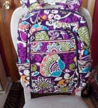 Vera Bradley Laptop backpack large computer bag in Plum Crazy - $68.00