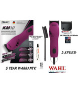 Wahl Pro KM10 PINK 2-Speed ULTIMATE Clipper KIT&10 Blade Set KM PET DOG ... - $314.99