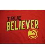 NBA Atlanta Hawks Red True Believer Playoffs Promo T Shirt L - $15.53