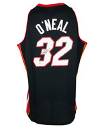 Shaquille O'Neal Signed Black Miami Heat Mitchell&Ness Basketball Jersey... - $339.49
